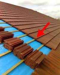 Location of the reinforced part of roof tiles